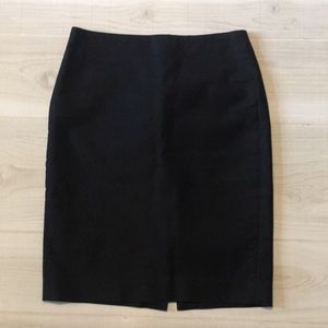 J crew black No 2 pencil skirt